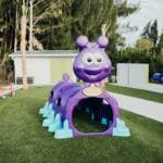Purple Worm Playground Toy at Bloom Academy